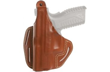 Blackhawk 3 Slot Leather Pancake Holster, Brown, Left Hand - S&W MP 9/40 4in