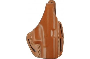 Blackhawk 3 Slot Leather Pancake Holster, Brown, Right 42004BNR