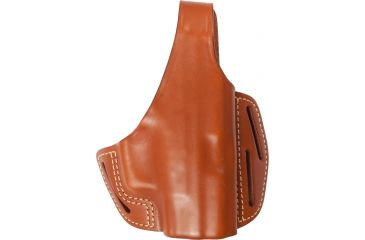 Blackhawk 3 Slot Leather Pancake Holster, Brown, Right Hand - Springfield XD Comp
