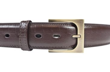 BlackHawk 4113 CQC Pistol Belt, Brown, 48in waist, Gator Finish, Antique Brass Buckle 411348GBN