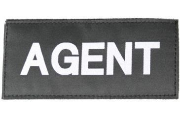 Blackhawk! White on Black 90IN01 Agent Patch