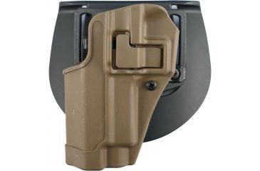 BlackHawk CQC Carbon Fiber SERPA Holster, Matte Finish w/Beltloop & Paddle, for Sig 220/226, Coyote Tan, Left Hand