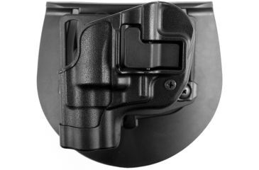 BlackHawk CQC CF Holster w/ BL & Paddle - SERPA- LT- w/Matte Finish Black, S&W J-frame revolver
