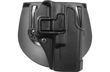 BlackHawk CQC SERPA Holster, Beltloop, Paddle, Right, Black 410502BKR