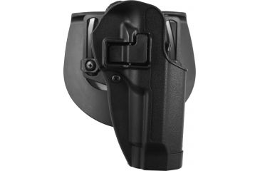 BlackHawk CQC SERPA Holster, Beltloop, Paddle, Right, Black 410504BKR