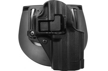 BlackHawk CQC SERPA Holster, Beltloop, Paddle, Right, Black 410517BKR