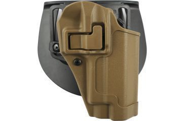 BlackHawk CQC SERPA Holster, Beltloop, Paddle, Right, Coyote Tan 410506CTR