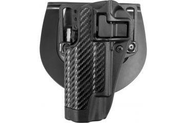 BlackHawk CQC SERPA Holster Carbon Fiber Finish Colt 191, Black Left