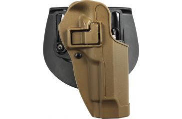 BlackHawk CQC SERPA Holster w/ Beltloop & Paddle, Right Hand, Beretta 92/96, Coyote Tan