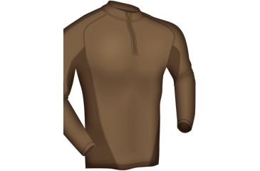 Blackhawk Engineered Fit Shirt-LS 1/4 Zip, Color -  Coyote Tan, Size -  Large, 84BS01CT-LG