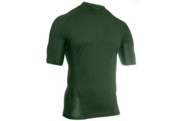 Blackhawk Engineered Fit Shirt, Short Sleeve, 1/4 Zip, Foliage Green, XXLarge, 84BS02FG-2XL