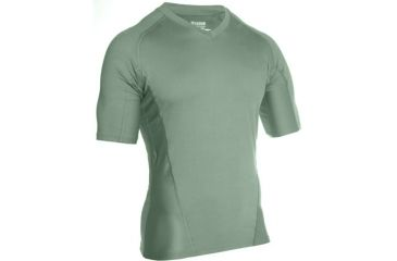 Blackhawk Engineered Fit Shirt, Short Sleeve, Vneck, Foliage Green, Large, 84BS03FG-LG