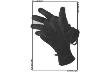 BlackHawk Fleece Tac Gloves Black Large 8077LGBK