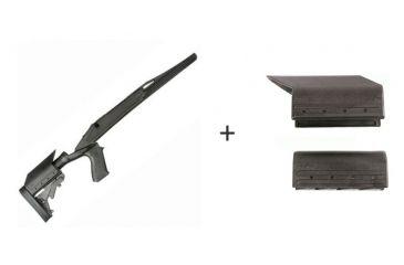 BlackHawk Knoxx Axiom Ultra-Light Rifle Stock for Howa/Weatherby Long Action w/ BlackHawk Knoxx Axiom Cheek Piece Adapter