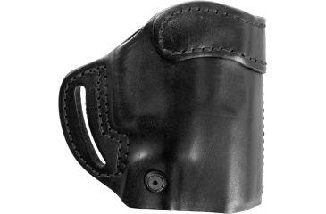 BlackHawk Leather Compact Askins Belt Slots Plain Black Holster - Right