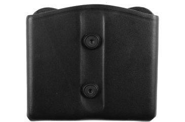 Blackhawk Leather Dual Magazine Pouch, Black, Single Stack 420902BK