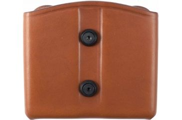Blackhawk Leather Dual Mag Pouch for Double Stack Mags, Brown, Double Stack