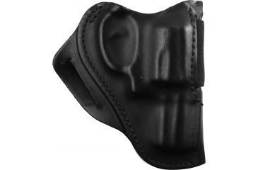 BlackHawk Leather Speed Classic Leather Holster - Plain Black, S&W J Frame- Right Hand