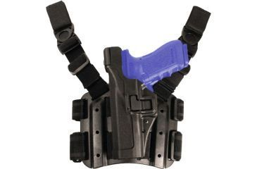 Blackhawk Serpa Tactical Level 3 Thigh Holster, Black, Left Hand - Sig 220/226/228/229
