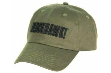 BlackHawk Logo Cap w/ Black Embroidery, Olive Drab
