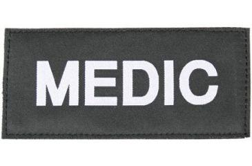 Blackhawk Medic Patch, White on Black