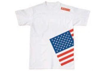 BlackHawk Men's Memory T-Shirt w/ Colored Flag, White, Medium 90GT04WH-MD