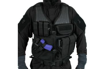 BlackHawk Omega Elite Vest Cross Draw/Pistol Mag - One sizeFits Most, Available options Omega Elite Vest Cross Draw/Pistol Mag, Black