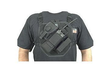 BlackHawk Patrol Radio Chest Harness Black 37PRH1BK