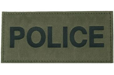 Blackhawk! Police Patches 90IN04, Black on Green