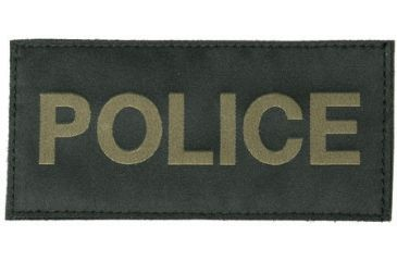 Blackhawk! Green on Black Police Patches 90IN04