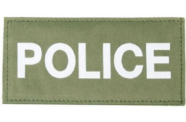 Blackhawk! Police Patches 90IN04, White on Green