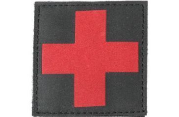 Blackhawk Red Cross ID Patch, Black