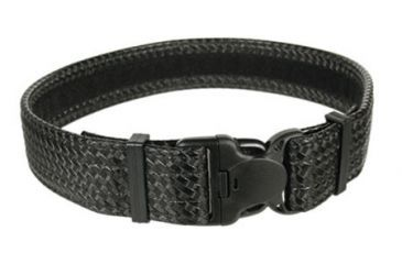 Blackhawk Reinforced Web Duty Belt w/Loop, Black, Basket Weave, Medium