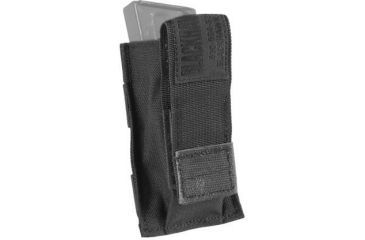 Blackhawk S.T.R.I.K.E. Single Pistol Magazine Pouch w/TalonFlex & Speed Clips, Black, 38CL08BK
