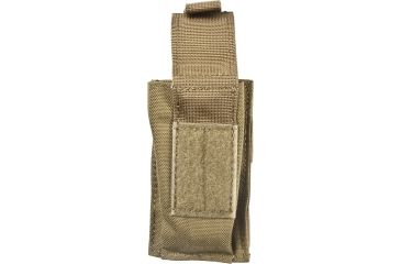 Blackhawk S.T.R.I.K.E. Single Pistol Magazine Pouch w/TalonFlex & Speed Clips, Coyote Tan, 38CL08CT