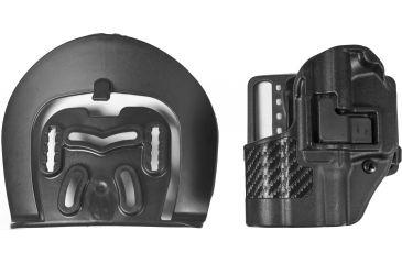Blackhawk SERPA CQC Belt Loop/Paddle Holster, LH, Carbon Black - Springfield XD Comp - 410031BK-L