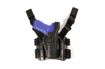 BlackHawk TAC SERPA Level 3 Holster, Right Hand, Black - Glock 17/19/22/23/31/32