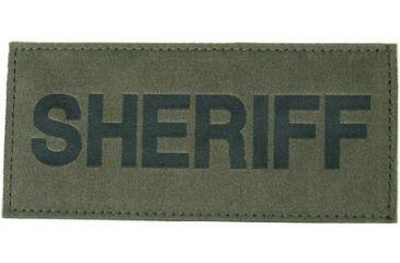 Blackhawk! Sheriff Patch, Black on Green