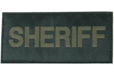 Blackhawk 90IN06 Green on Black Sheriff Patch
