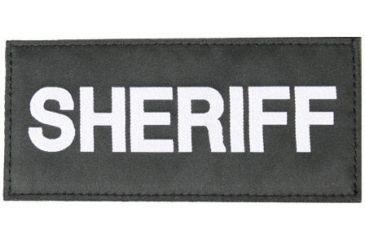Blackhawk Sheriff Patch, White on Black