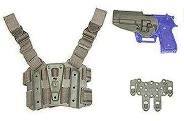 BlackHawk S.T.R.I.K.E. SERPA Combo Kit, Large/2XL, Beretta Only - Foliage Green - Left Hand 40SC03FG-L
