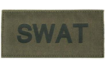 Blackhawk! SWAT Patch, Black on Green