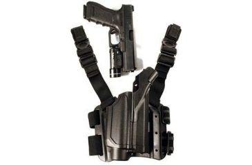 BlackHawk 430200BK-R Level 2 Light Bearing Tactical Holster for Pistols with M-3 / M-6 - TRL-1 / TRL-2 Lights