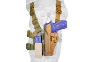 BlackHawk Tactical SERPA Thigh Holster w/ Mag Pouch, Left Hand, Coyote Brown - Beretta92/96 Mag Pouch Not Included