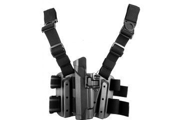 BlackHawk Tactical SERPA Thigh Holster, Left Hand, Black - Pouch Not Included 430503BKL