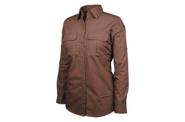 Blackhawk Women's Long Sleeve Tactical Shirt, Chocolate Brown - Large 92TS01CB-LG