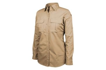 Blackhawk Women's Long Sleeve Tactical Shirt, Khaki - 2XL 92TS01KH-2XL