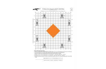 Blackheart AK-47 Zero Targets 8.5x11 Inches 25 Pack
