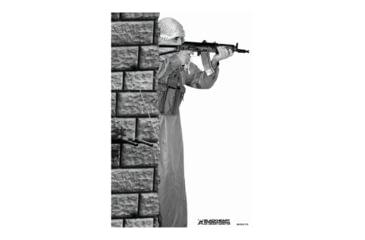 Blackheart Custom Global War On Terror Target Krinkov Gunner Behind Wall Measures 23x35 Inches 100 Pack