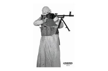 Blackheart Custom Global War On Terror Target PKM Gunner 2 Measures 23x35 Inches 100 Pack